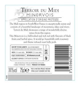1688ETCE Terroir du Midi - Minervois